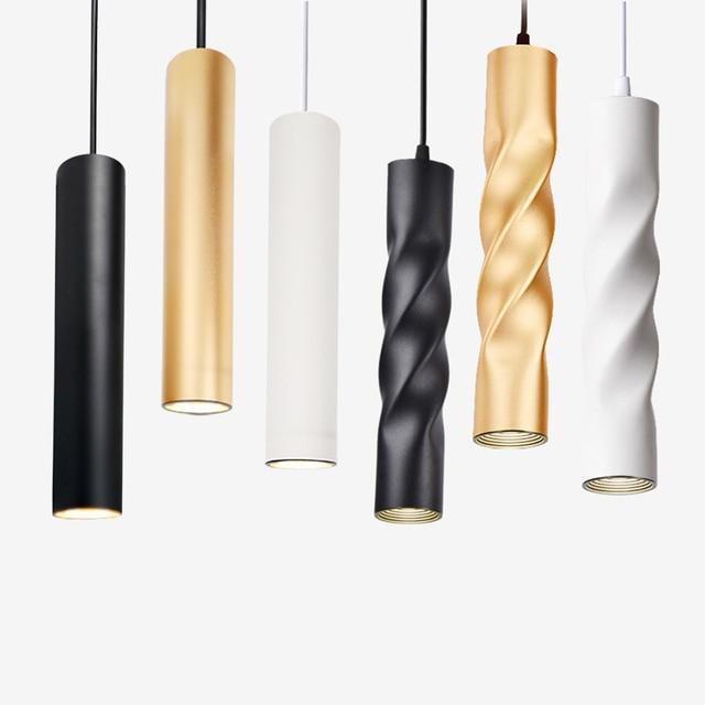 תליון מנורת dimmable אורות תליית מנורת מטבח אי אוכל חדר חנות בר דלפק קישוט צילינדר צינור מטבח אורות