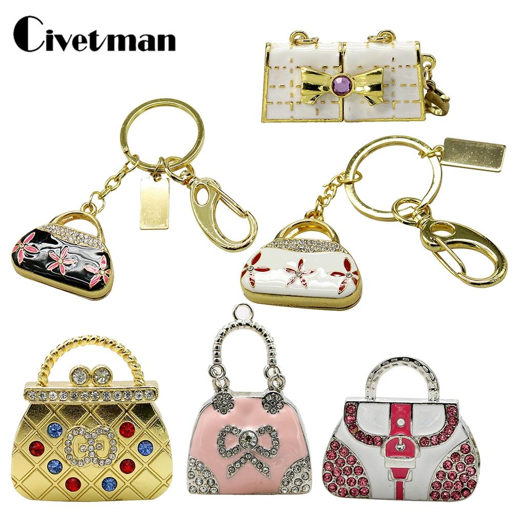 USB Flash Drive Handbag Pen Drive Gift Jewelry 4GB 8GB 16GB 32GB 64GB Pendrive Purse Bag USB Stick Memory Disk Ladies Gifts