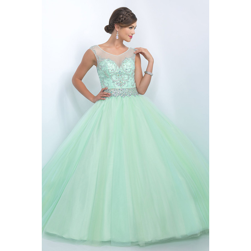 Quinceanera Dresses 2014 Mint Fashion Mint Green Qui...