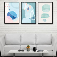 Home Living Room Wall Decoration Printing Circle Geometry Abstract Paintings Nordic Style Posters Art Canvas Pictures Minimalism(China)