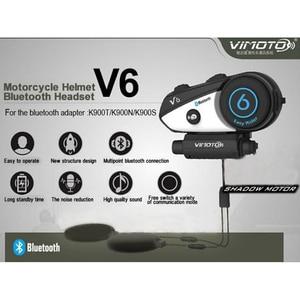 Image 3 - Englisch Version Vimoto V6 Motorrad Helm Headset Bluetooth Stereo Kopfhörer Multipoint Verbindung BT Sprech