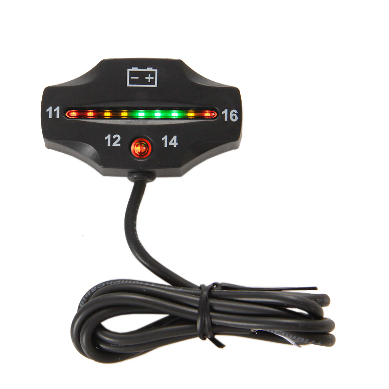 Battery Gauge LED battery VOLT meter battery indicator 12v 16V FOR Auto Motorcycle ATV Tractor Trolling Motor RL-BI006