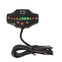 Free shipping RL-BI006 Battery Gauge LED battery VOLT meter battery indicator 12v FOR Auto Motorcycle ATV Tractor Trolling Motor