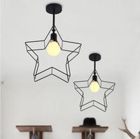 Luzes pingente de ferro estrela aislenew teto luzes do corredor varanda do quarto de estudo e personalidade criativa e criativo FG444|pendant lights|iron pendant light|iron light -