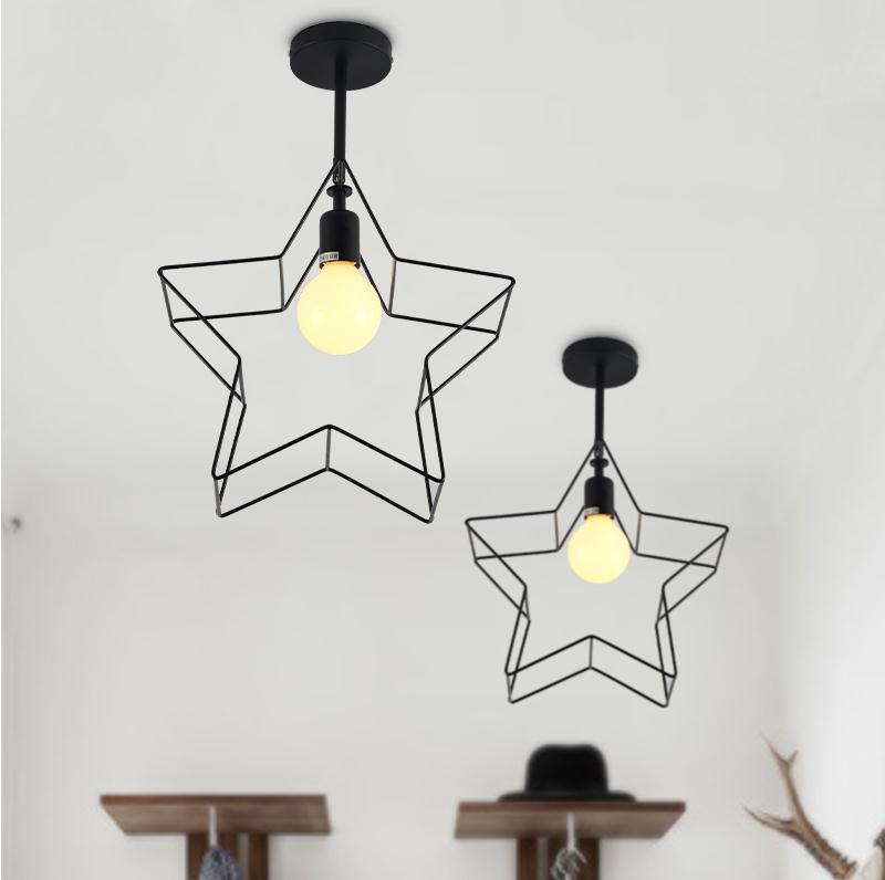 Pendant Lights iron star aislenew ceiling balcony bedroom study and creative personality and creative corridor lights FG444 new ceiling balcony bedroom study and creative personality and creative pendant lights iron star aisle corridor lights 16f221d