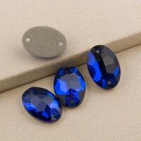 Capri Mavi 3210 Oval Tüm Boyutları 7x10 11x16 17x24mm dikmek Taşlar Rhinestone kristal Düz geri Rhinestones Dikiş Kristalleri Boncuk