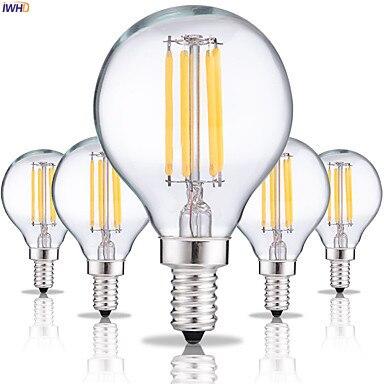 IWHD Bombillas Decoration Vintage Lamp Light Bulb 4W G45 Filament LED Edison Bulb Retro Lamp Ampoule Gloeilamp E14 E27