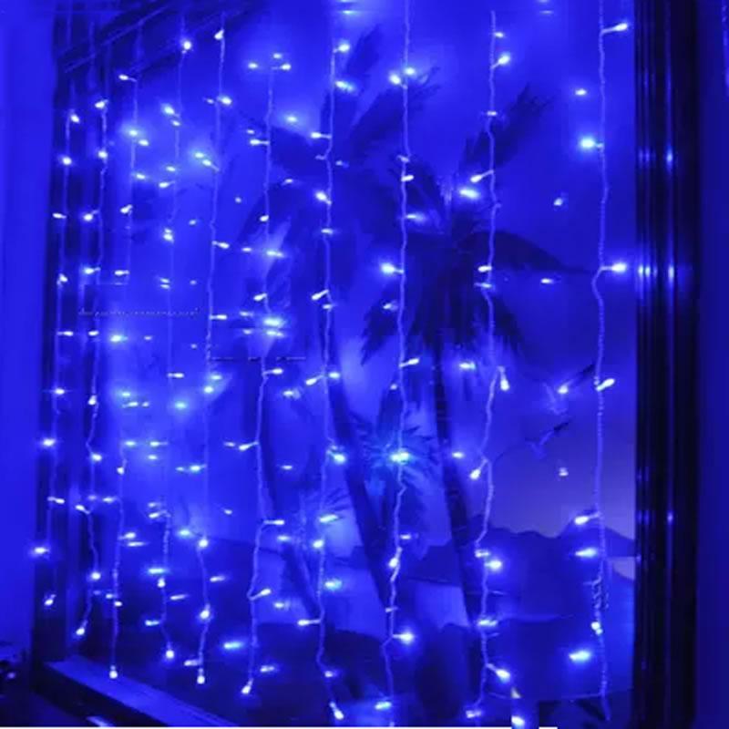 EU US Plug 3 m * 3 m 300 LED String Fairy Gordijn Licht Guirlande - Vakantie verlichting - Foto 5
