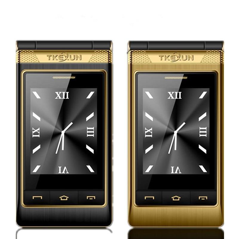TKEXUN G10 Women Flip Phone With Double Dual Screen Dual Sim Camera MP3 MP4 3 0