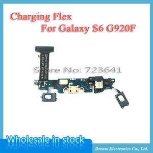Image 2 - 10 pcs USB מטען טעינת נמל Flex כבל לסמסונג גלקסי S6 קצה בתוספת G920F G925F G9250 G928F Dock מחבר אודיו ג ק