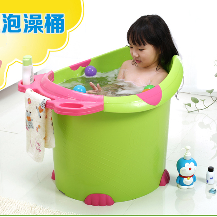 Simple plastic pot child take a bath bucket bath bucket oversized ...