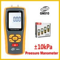 High Precision Digital Manometer Air Gauge Meter Barometers Differential Pressure Tester Detector GM510 BENETECH