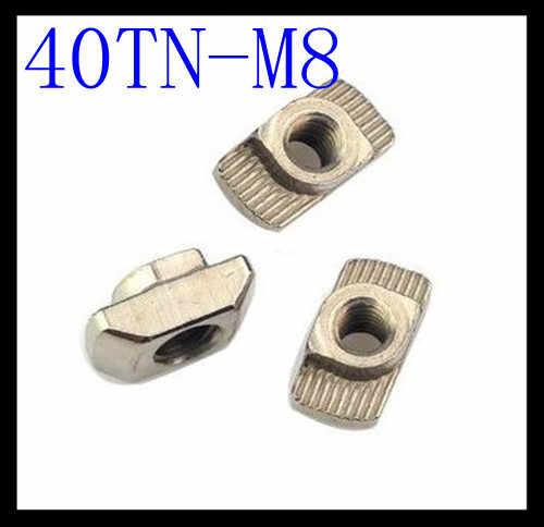 T гайка головка молотка гайка M8 разъем Никель покрытием для 40 серии для щелей 8 M4 M5 M6 M8 аксессуары для алюминиевых профилей
