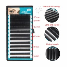 Stars Colors C curl 7~15mm Mixing length,12rows/tray High Quality Natural False Mink Eyelash Extension natural eyelashes