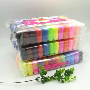 36 cores de ar seco super leve argila polímero plasticina crianças educação precoce brinquedos diy argila colorida criativo colorido plasticina