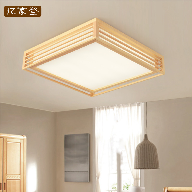 Japanese Style Delicate Crafts Wooden Frame Led Ceiling Light Luminarias Para Sala Dimming Led Ceiling Lamp Punctual Timing Ceiling Lights Lights & Lighting