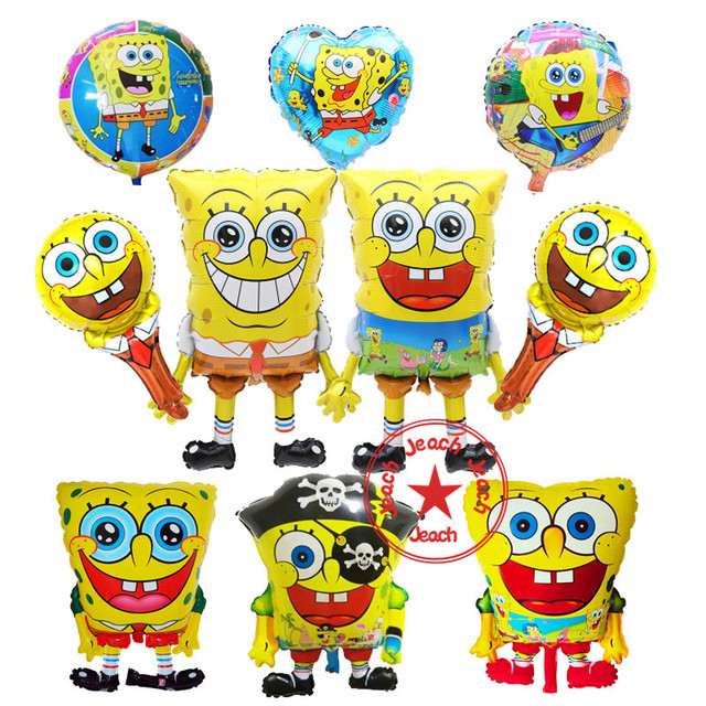 3eaea6399c195 birthday balloons spongebob party supplies ballon balon baby decor children  party decoration spongebob balloons helium