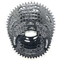 Deckas roda dentada oval 104bcd, coroa dentada 40/42/44/46/48/50/52t forshimano coroa de bicicleta de alumínio, pedaleira de bicicleta de 8 12 velocidades