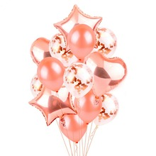 Rose Gold Balloon Champagne Foil Balloons Wedding Party Decor Latex Balloon for Birthday Party Decorations Kids Party Favors цена и фото
