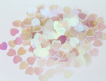 Wedding table decoration kits Iridescent Clear Pearl Sparkle Heart Confetti