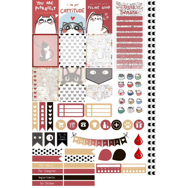 Diary Planners I love My Dog Stickers for Scrapbook and Fun Precut