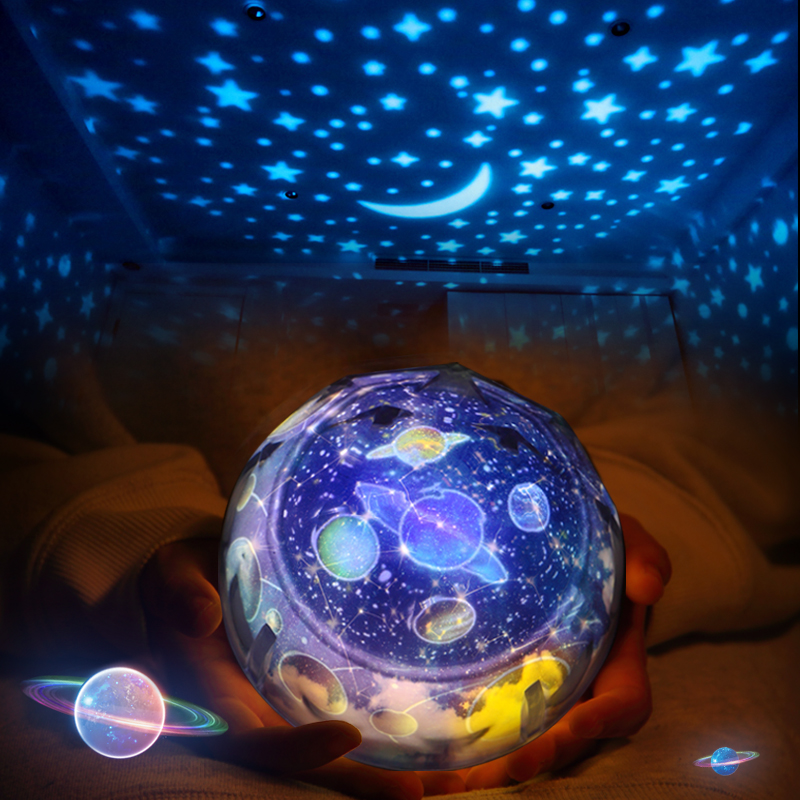 5 Set Film Star Moon Night Light Starry Sky Projector Lamp LED Luminaria Cosmos Universe Ocean Birthday Nightlight For Baby Gift блузки vera mont блузка