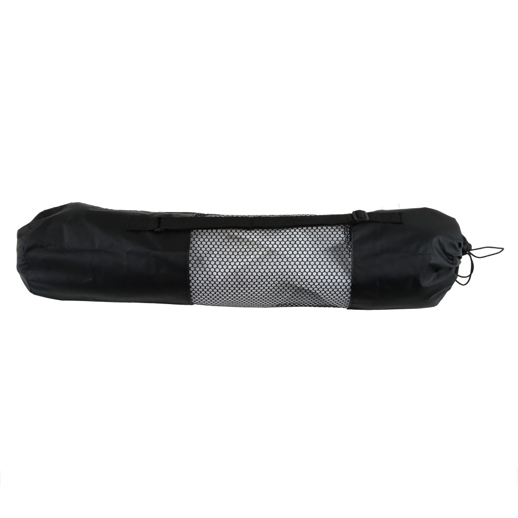 Convenience Black Portable Yoga Mat Bag Nylon Pilates Exercise Mesh Center