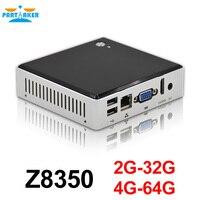 Partaker Intel Mini PC Windows 10 Ubuntu With Intel Z8350 Quad Core HDMI Mini Computer HTPC