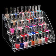 1 Pc Removable 5 Tiers Rack Acrylic Clear Nail Polish Cosmetic Varnish Display Stand Holder Make up Organizer Storage Box 7 tiers clear makeup cosmetic acrylic organizer lipstick jewelry display stand holder nail polish rack 31x31x25cm