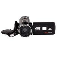 Богатые 4 К цифрового видео Камера Ночное видение цифровой Камера Wi Fi HD 4 К Камера DV внешний микрофон Широкий формат зеркало