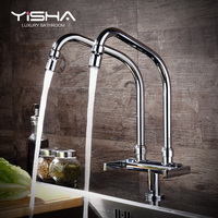 Kitchen Faucet Single Cold Double Pipe Outlet Faucet Flat Installation Three Models Optional Sink Universal Rotating Faucet