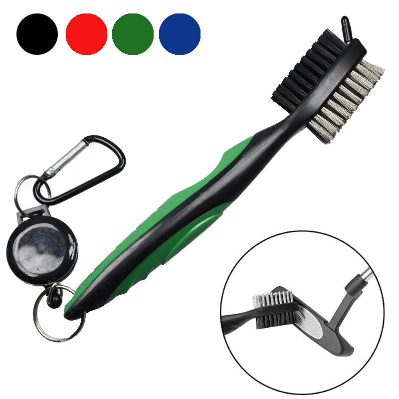 Golf Club Brush Golf Groove Cleaning Brush 2 Sided Golf Putter Wedge Ball Groove Cleaner Kit Cleaning Tool Golf Accessories