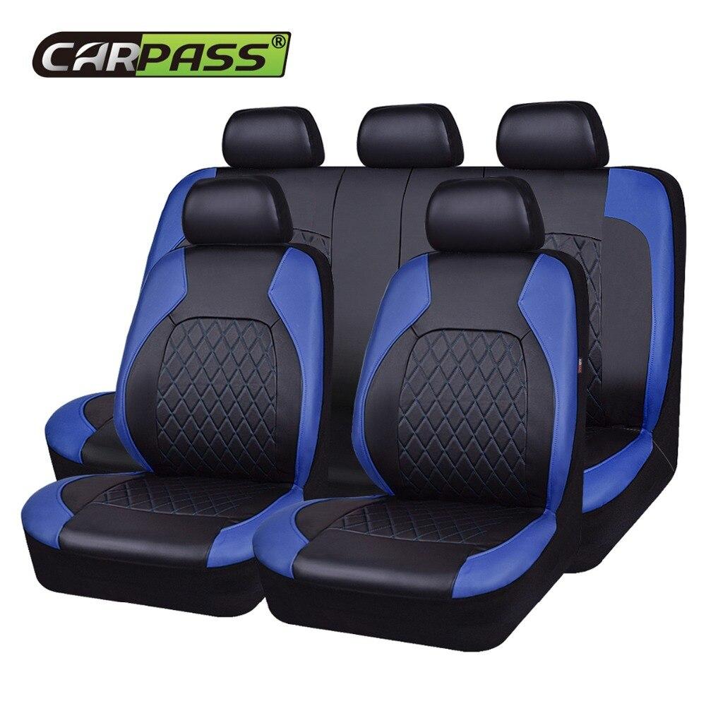 Voiture-passer PU En Cuir Universel Siège D'auto Couverture Côté Airbag Compatible Eau-Preuve Automobile Intérieur Accessoires Fit plus voitures