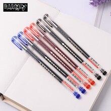 6PCS Big Volume Plastic Gel Pen 0 5mm Black Blue Red ink Large Volume Needle Tip