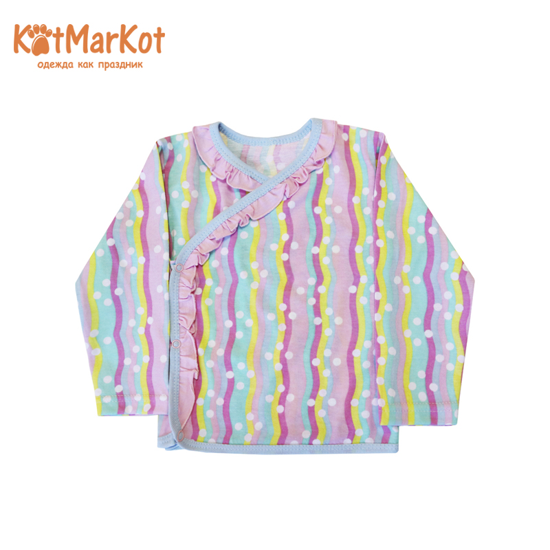 Blouse for girls КОТМАРКОТ 7492 stylish butterfly print flounced blouse shorts twinset for girls