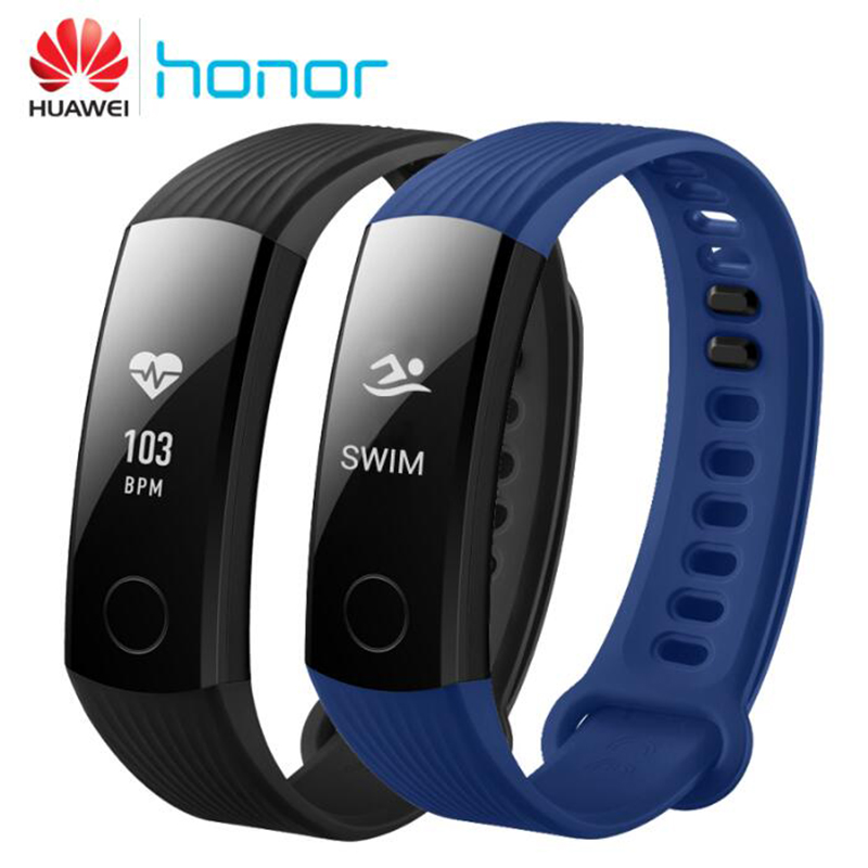 100% Оригинальный huawei Honor Band 3 Смарт Браслет Swimmable 5ATM OLED экран Touchpad постоянного сердечного ритма мониторы Push сообщение