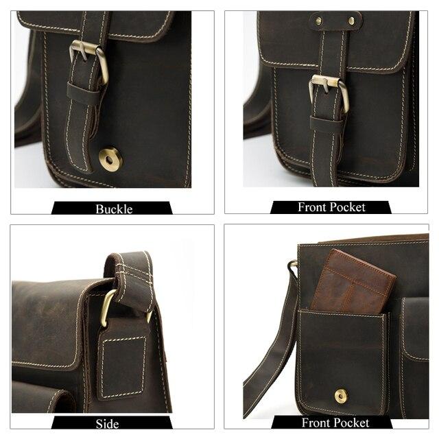 daa22e5bac5c Купить Tinyat Для мужчин с плечевым ремнем Многофункциональный Для мужчин  Повседневное сумка качества мужского плеча Курьерские сумки Холст кожаная.