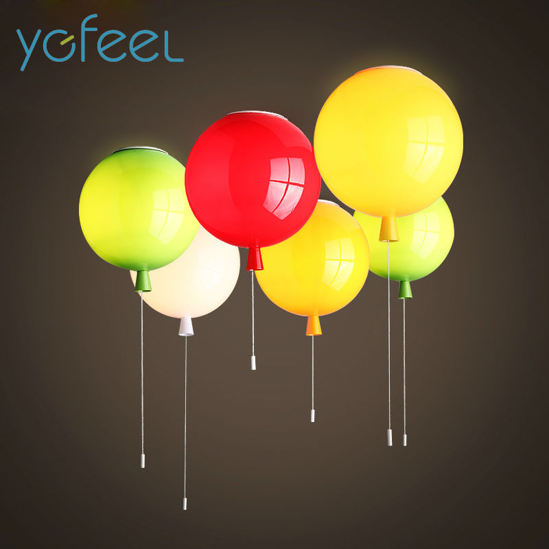 [YGFEEL] Ceiling Lights Modern Simplicity Novelty Color Balloon Shape Home Restaurant Living Room Lighting Children Bedroom Lamp [ygfeel] ceiling lights modern simplicity novelty color balloon shape home restaurant living room lighting children bedroom lamp