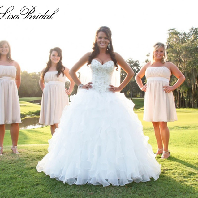 Princess Wedding Dresses with Ruffles