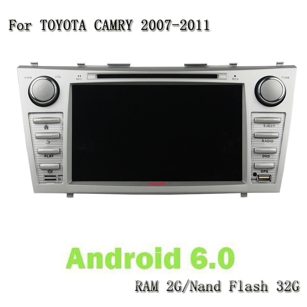 Android 6.0.1 RAM 2G ROM 32G 8 Core 2 Din Car Stereo 8 Inch 1024*600 Car DVD Player GPS Navigation For Toyota CAMRY 2007-2011