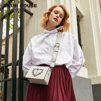 EMINI HOUSE Paris Series Split Leather Flap Crossbody Bags For Women Shoulder Bag Purses And Handbags Women Messenger Bags