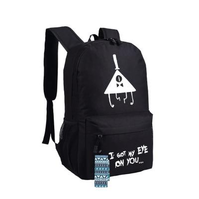 New Gravity Falls Backpack Anime oxford Schoolbags Fashion Unisex Travel Bag цена