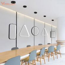 Cord pendant LED lamp dining room decomation Suspension lighting fixture Creative pendant lights AC85-260V fixtures modern circles led ring chandelier pendant lamp suspension light lighting fixture 90 260v