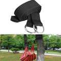 Strong Hammock Hanging Belt Hammock Strap Rope With Metal Buckle Load 200kg  E2shopping