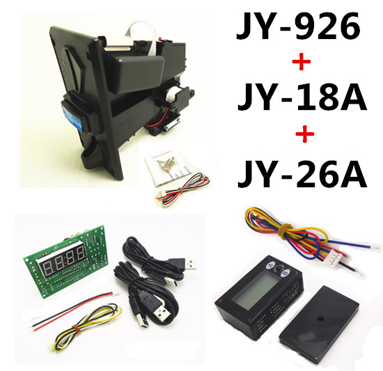 926+18A+26A coin operated USB time control device for cafe kiosk,multi coin selector acceptor with timer board counter