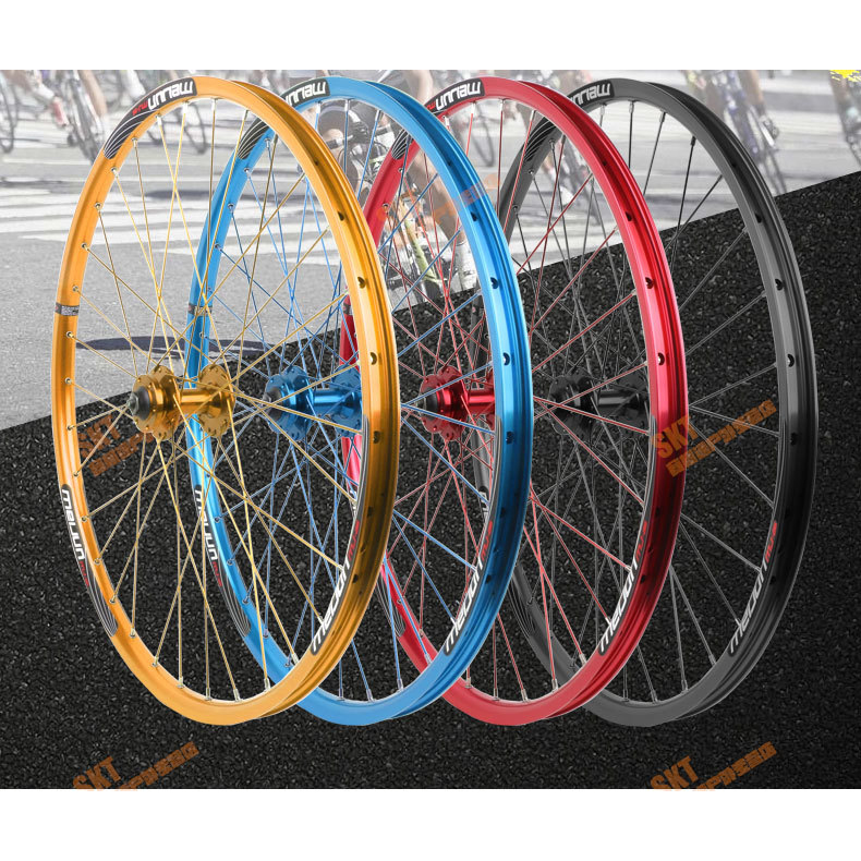 MEIJUN 26'' Inch 32 Holes MTB Mountain Bikes Road Bicycles Disc Brake Wheel Hubs Rim Knife Circle Wheelset Parts ultralight bearing hubs mtb mountain bicycle hubs 32 holes 4 bearing quick release lever mountain bike disc brake parts 4colors