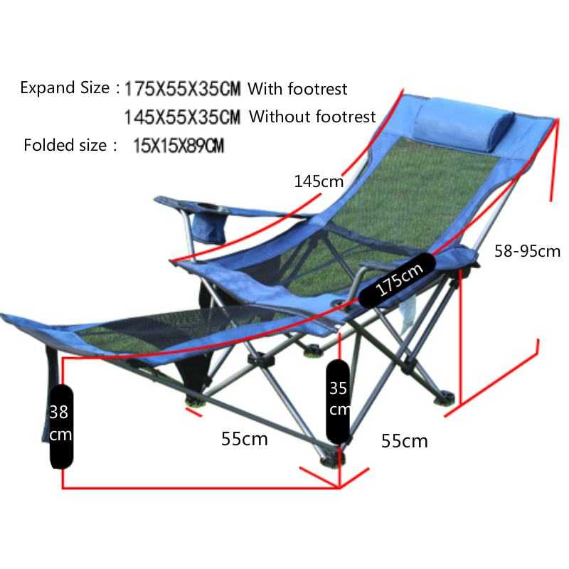 folding chair with footrest zero gravity lawn chairs outdoor detachable sitting and lying dual use sku 32897337102