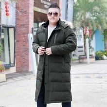 X-Long down jacket plus size men's knees men's large size lo