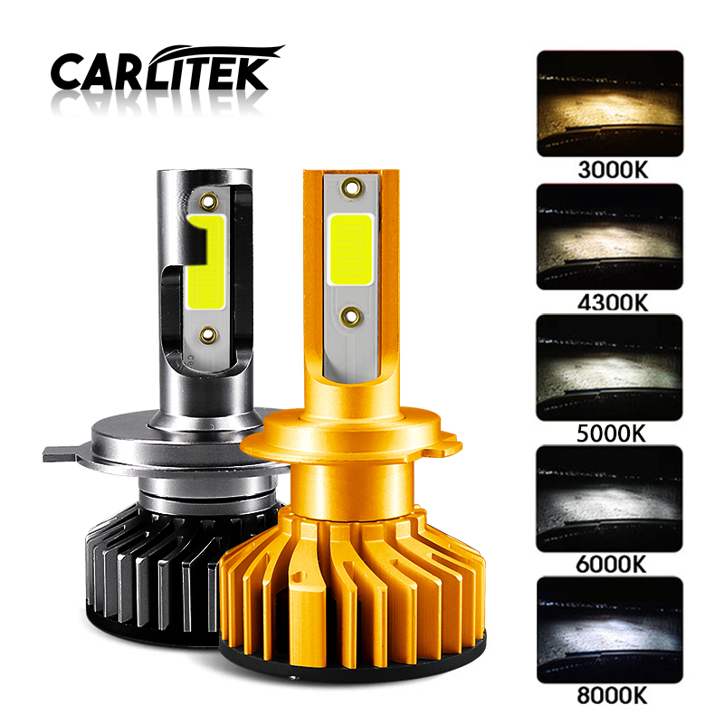 CARLitek Mini H7 <font><b>Led</b></font> <font><b>Canbus</b></font> H4 Turbo Car Auto Headlight Bulb Lamp H 11 <font><b>Led</b></font> H1 HB4 HB3 н7 H8 H3 Fog Head Light 4300K 6000K image