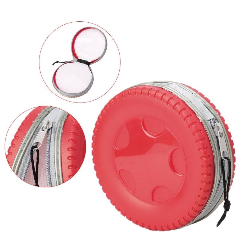 THINKTHENDO 24 Disc CD VCD DVD Plastic Box Storage Organizer Bag Case Holder Cool Tire Model New Solid Casual Handbag
